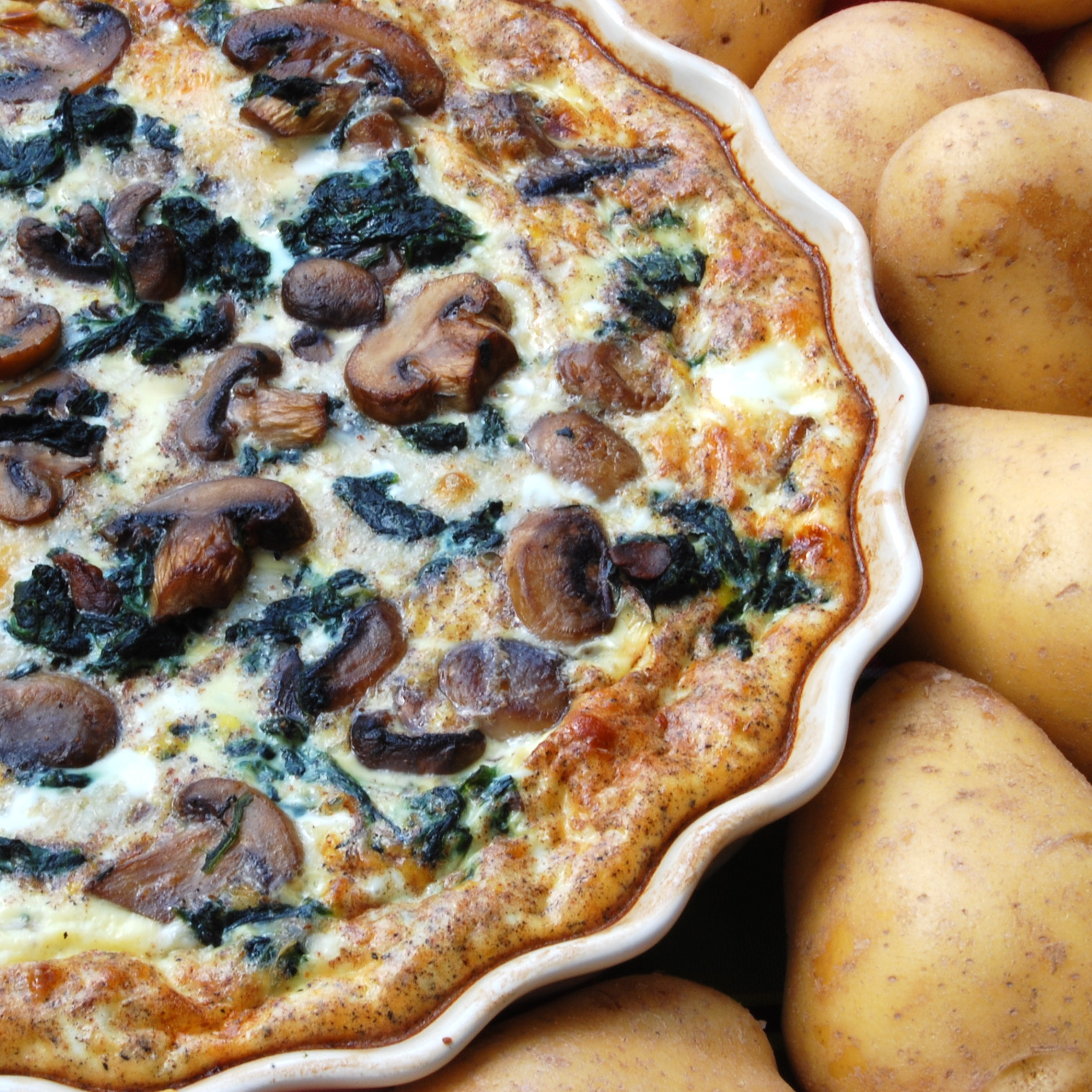 Sweet Pea's Kitchen » Mushroom and Spinach Quiche