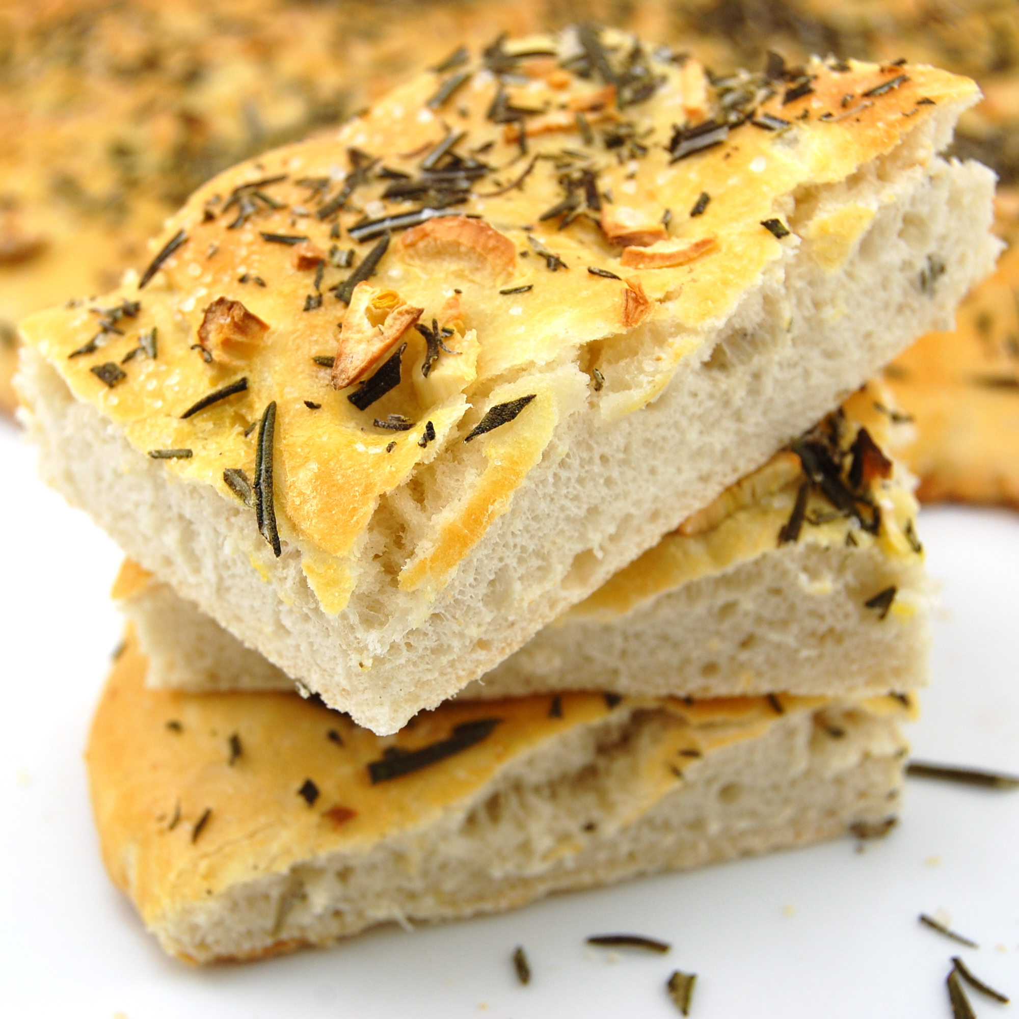 Italian Focaccia Bread With Olive Oil, Rosemary And Garlic Recipes ...