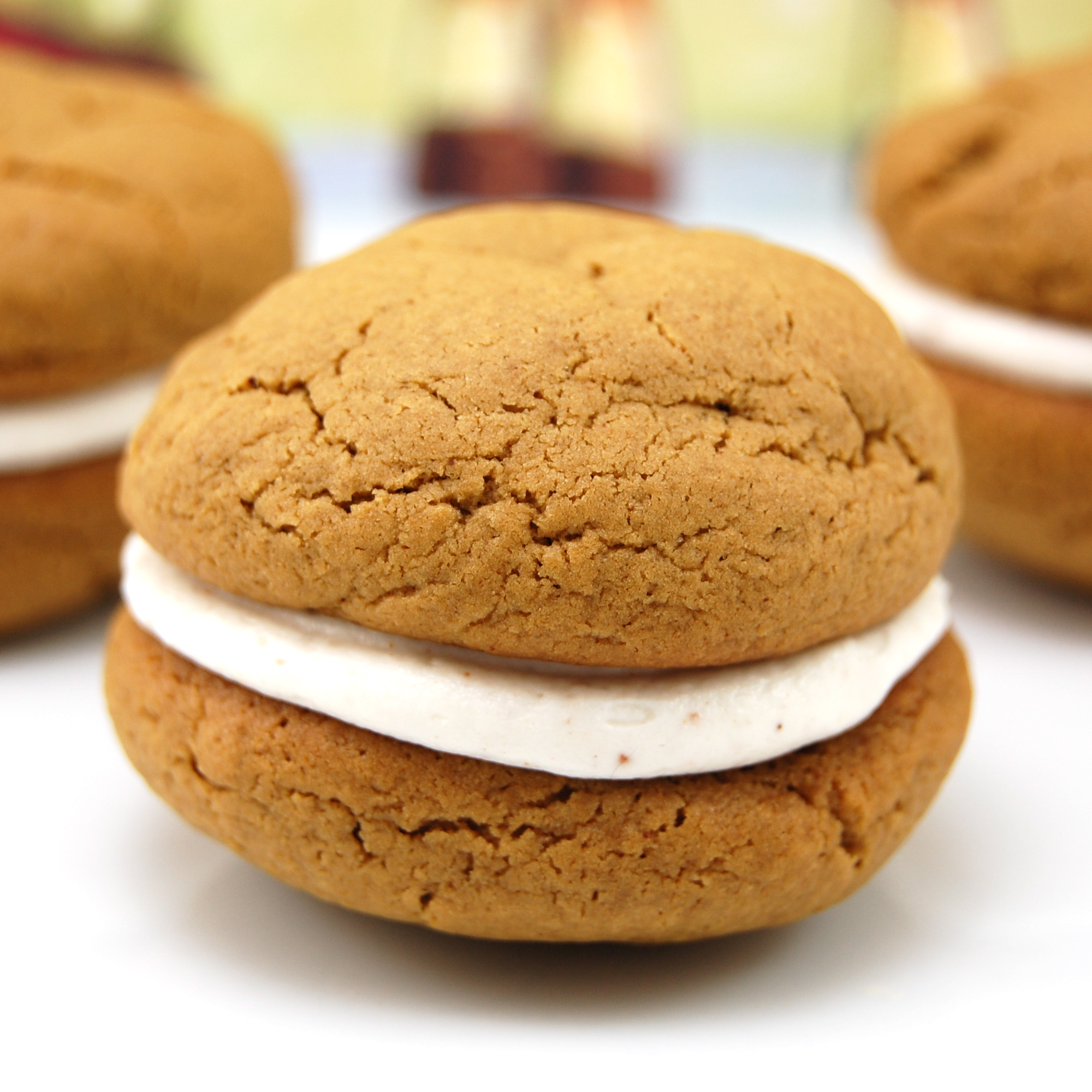 Sweet Pea's Kitchen » Gingerbread Whoopie Pies with Eggnog Filling