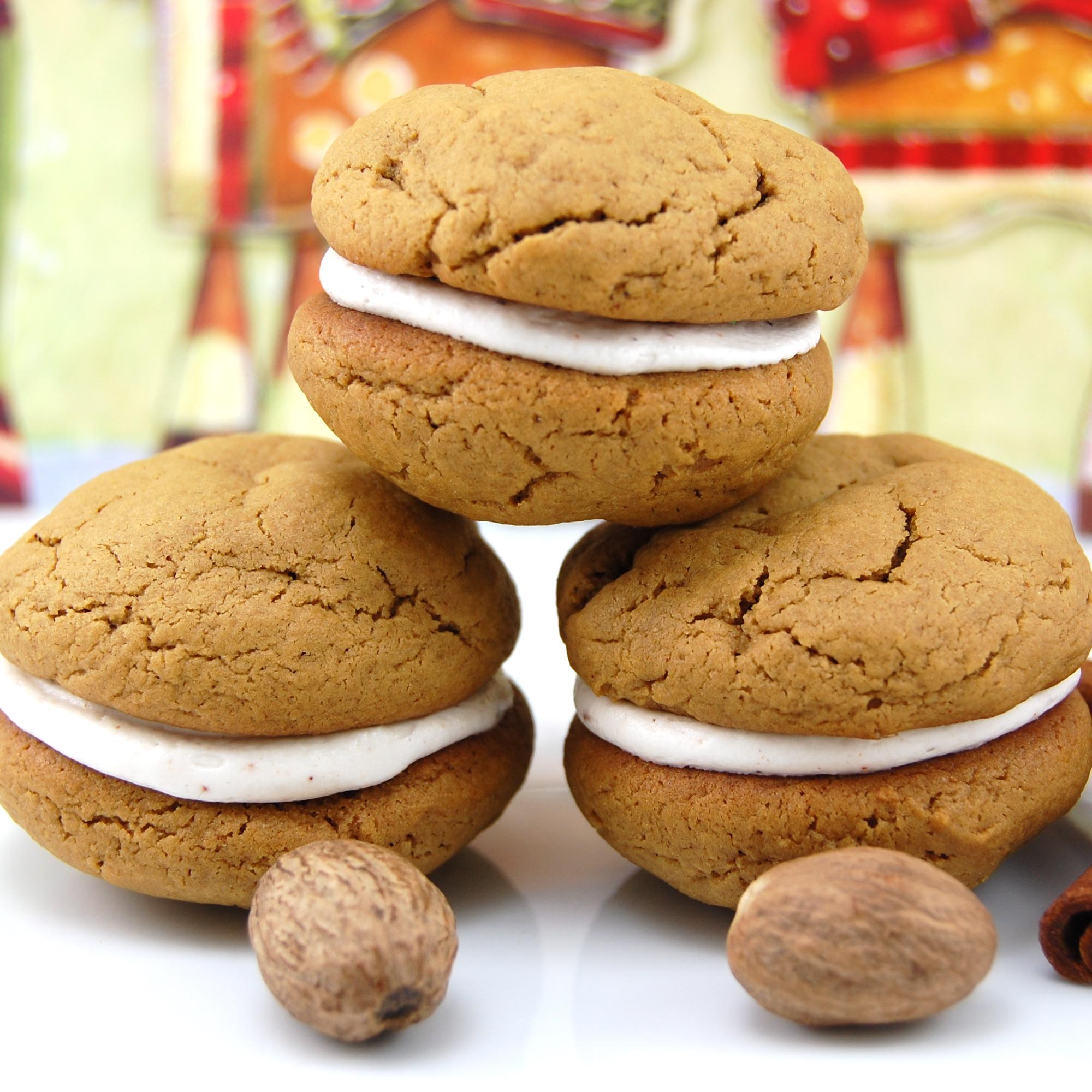 gingerbread whoopie pies with eggnog filling yield 20 whoopie pies ...