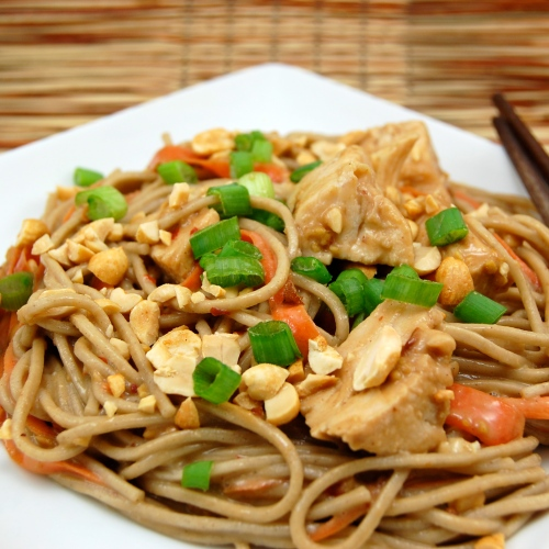 Sweet Peas Kitchen » Spicy Soba Noodles with Chicken in Peanut Sauce