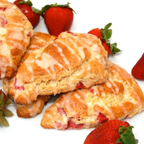 Sweet Pea's Kitchen » Orange Glazed Strawberry Scones