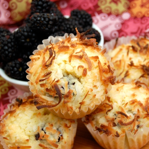 Sweet Pea's Kitchen » Blackberry Coconut Pound Cake Muffins