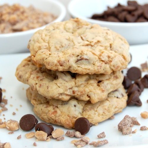 ... Pea's Kitchen » Toasted Coconut, Toffee and Chocolate Chip Cookies