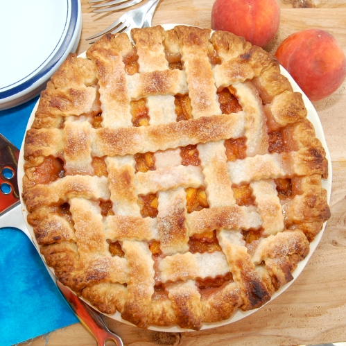 Sweet Pea's Kitchen » Lattice-Top Fresh Peach Pie