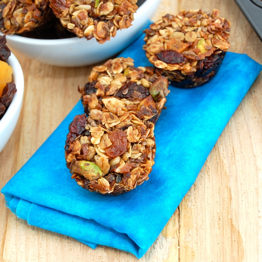 Fruit and Nut Granola Bites