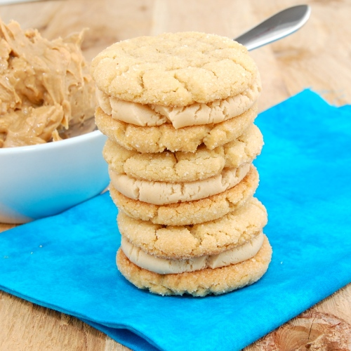 peanut butter sandwich cookies filled with an addicting peanut butter ...