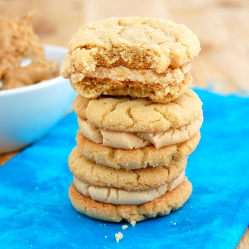 ... will swoon for these Milk Chocolate Peanut Butter Sandwich Cookies