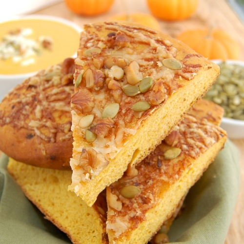 Sweet Pea's Kitchen » Pumpkin-Walnut Focaccia with Gruyère