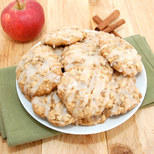 Sweet Pea's Kitchen » Iced Oatmeal Applesauce Cookies