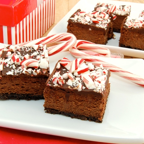 Sweet Pea's Kitchen » Chocolate Cheesecake Candy Cane Bars