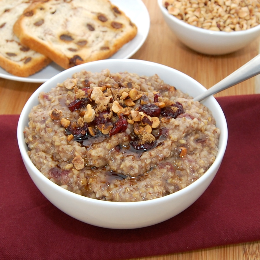 Cherry Hazelnut Oatmeal