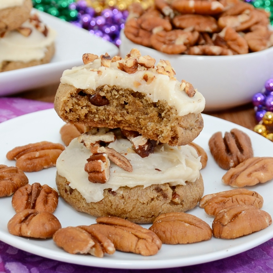 Praline Cookies with Browned Butter Frosting