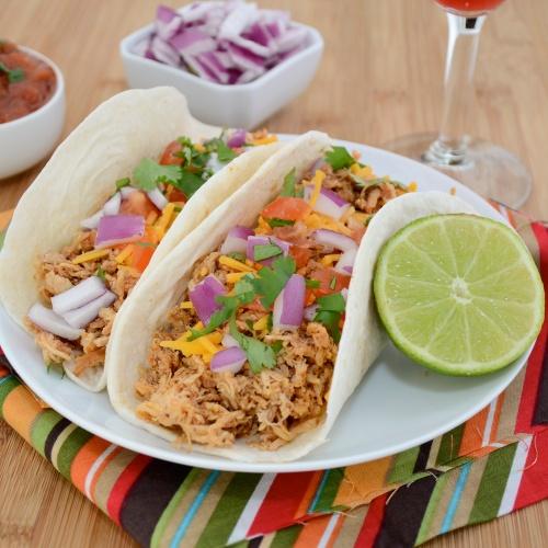 Crockpot Chicken Tacos | Sweet Pea's Kitchen