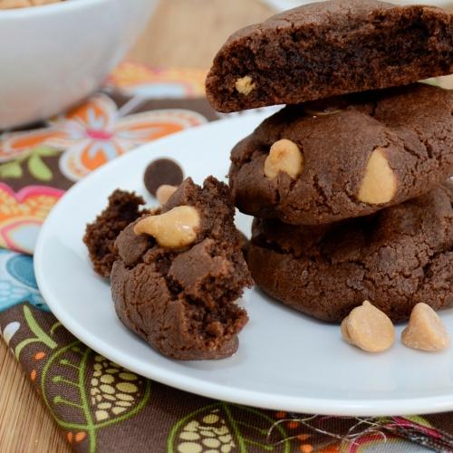 ... Pea's Kitchen » Triple Threat Chocolate Fudge Peanut Butter Cookies