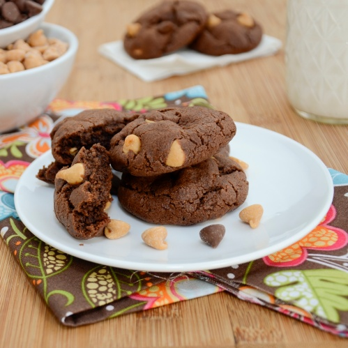 ... Pea's Kitchen » Triple Threat Chocolate Fudge Peanut Butter Cookies