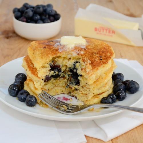 Sweet Pea's Kitchen » Lemon-Cornmeal Blueberry Pancakes