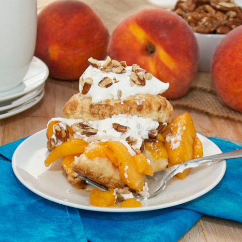 Warm Peach Shortcakes With Bourbon-Brown Sugar Cream ...